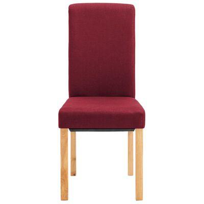 vidaXL Chaises de salle à manger 2 pcs Rouge Tissu