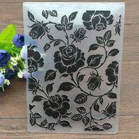 Roses en plastique gaufrage dossiers scrapbooking papier artisanat /