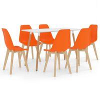 vidaXL Ensemble de salle à manger 7 pcs Orange