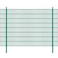 vidaXL Panneaux et poteaux de clôture 2D pour jardin 2008x1630 mm 34 m