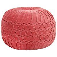 vidaXL Pouf Velours de coton Design de sarrau 40 x 30 cm Rose
