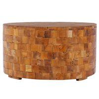 vidaXL Table basse 60x60x35 cm Bois de teck massif