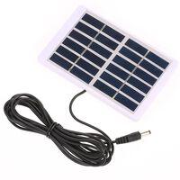 Chargeur solaire portable 1.2w / 6v avec sortie 5521 cc - (84 *