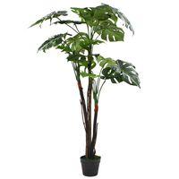vidaXL Plante artificielle avec pot Monstera 130 cm Vert