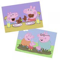 Puzzle 2x24 p Peppa Pig - La vie de famille