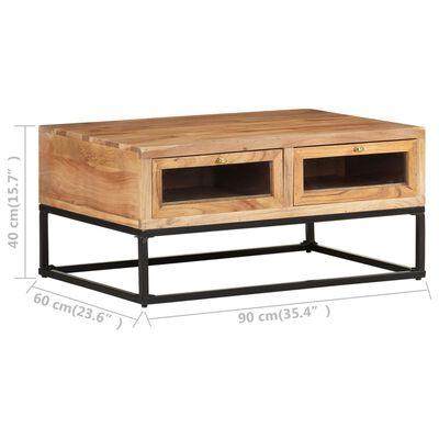 vidaXL Table basse 90x60x40 cm Bois d'acacia massif