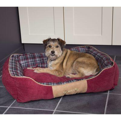 Scruffs Lit à boîte pour chien Highland Rouge L
