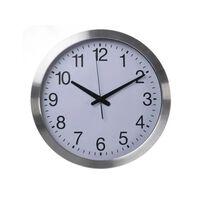 Perel Horloge murale 40 cm Blanc et argenté