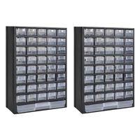 vidaXL Boîte à outils de rangement avec 41 tiroirs 2 pcs Plastique
