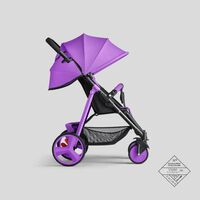 Chariot pour nouveau-né pliable portable ultra-léger, poussette de