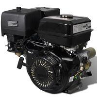 vidaXL Moteur à essence avec démarrage électrique 15 CH 11 kW Noir