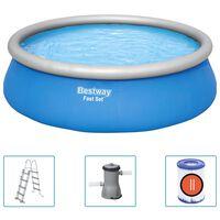 Bestway Ensemble de piscine gonflable ronde Fast Set 457x122 cm