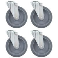 vidaXL 4 pcs Roulettes pivotantes à trou de boulon 125 mm
