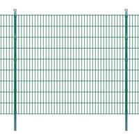 vidaXL Panneaux et poteaux de clôture 2D pour jardin 2008x1830 mm 28 m