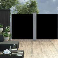 vidaXL Auvent latéral rétractable Noir 160 x 600 cm