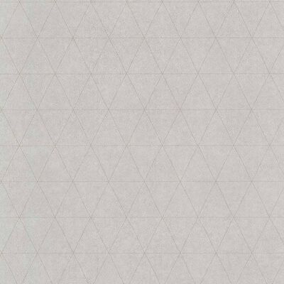 couleurs & matières Papier peint Triangles Gris