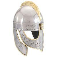 vidaXL Casque de réplique antique Beowulf pour GN Argenté Acier