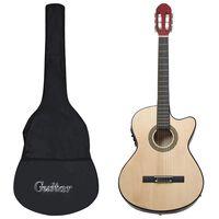 vidaXL Jeu de guitare 12 pcs occidental avec égaliseur et 6 cordes