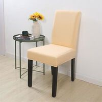 Housse de chaise en tissu pour salle à manger - salon à dossier