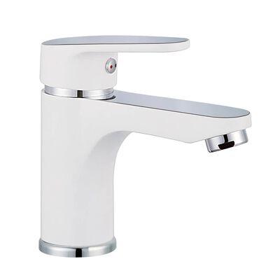 SCHÜTTE Mitigeur de lavabo ALASKA Blanc et chrome