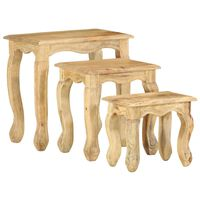 vidaXL Ensemble de tables gigognes 3 pcs Bois massif de manguier