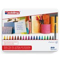 edding Feutres de coloriage fin classiques 20 pcs Multicolore 1200