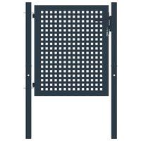 vidaXL Portail de clôture Anthracite 102x150 cm Acier