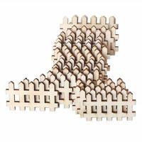 Artisanat d'embellissement de clôture en bois découpé au laser