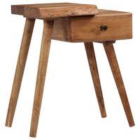 vidaXL Table de chevet Bois d'acacia massif 45 x 32 x 55 cm