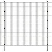 vidaXL Panneaux et poteaux de clôture 2D pour jardin 2008x2030 mm 8 m