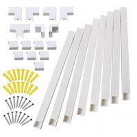 8 pièces de tuyau de goulotte de câble électrique en PVC pour la