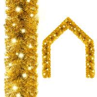 vidaXL Guirlande de Noël avec lumières LED 10 m Doré