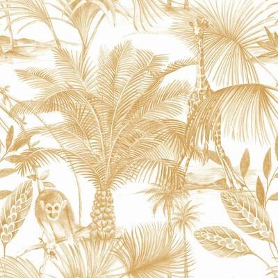DUTCH WALLCOVERINGS Papier peint Kidatu Ocre et blanc