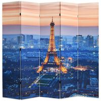 vidaXL Cloison de séparation pliable 200x170 cm Paris la nuit