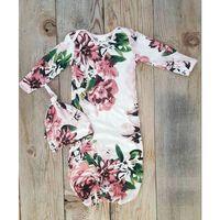 Pyjama bébé fille nouveau-né, chemise de nuit en coton doux -