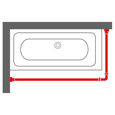 Sealskin Tringle de rideau de douche Chrome