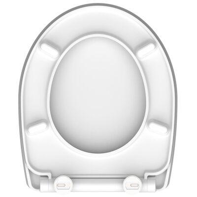 SCHÜTTE Siège de toilette avec fermeture en douceur MAGIC LIGHT
