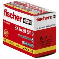 Fischer Ensemble de chevilles d'extension avec vis 6x30 SX 50 pcs
