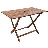 vidaXL Table de jardin 120x70x75 cm Bois d'acacia massif