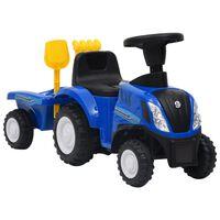 vidaXL Tracteur pour enfants New Holland Bleu
