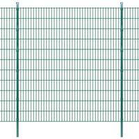 vidaXL Panneaux et poteaux de clôture 2D pour jardin 2008x2230 mm 38 m
