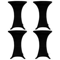 vidaXL Housses élastiques de table Ø 60 cm Noir 4 pcs