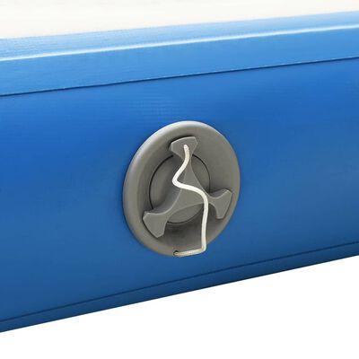 vidaXL Pont flottant gonflable Bleu et blanc 300x300x15 cm