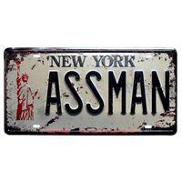 Retro USA New York 125 plaques en métal - licence de numéro de