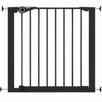 Noma Barrière de sécurité Easy Pressure Fit 75-82 cm Métal Noir 94313