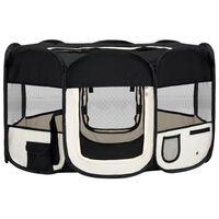 vidaXL Parc pliable pour chien avec sac de transport Noir 145x145x61cm