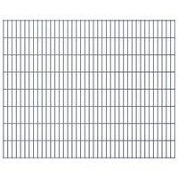 vidaXL Panneaux de clôture de jardin 2D 2,008x1,63 m 10 m total Gris