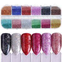 Paillettes ultrafines de couleur mélangée 3d paillettes ongles