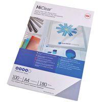 GBC Ensemble de couvertures de reliure HiClear A4 240 microns