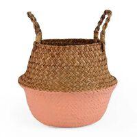 Pot de fleur de plante de rotin décoratif fait main pliant